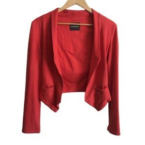Monrow | Red Orange Open Front Jacket Small